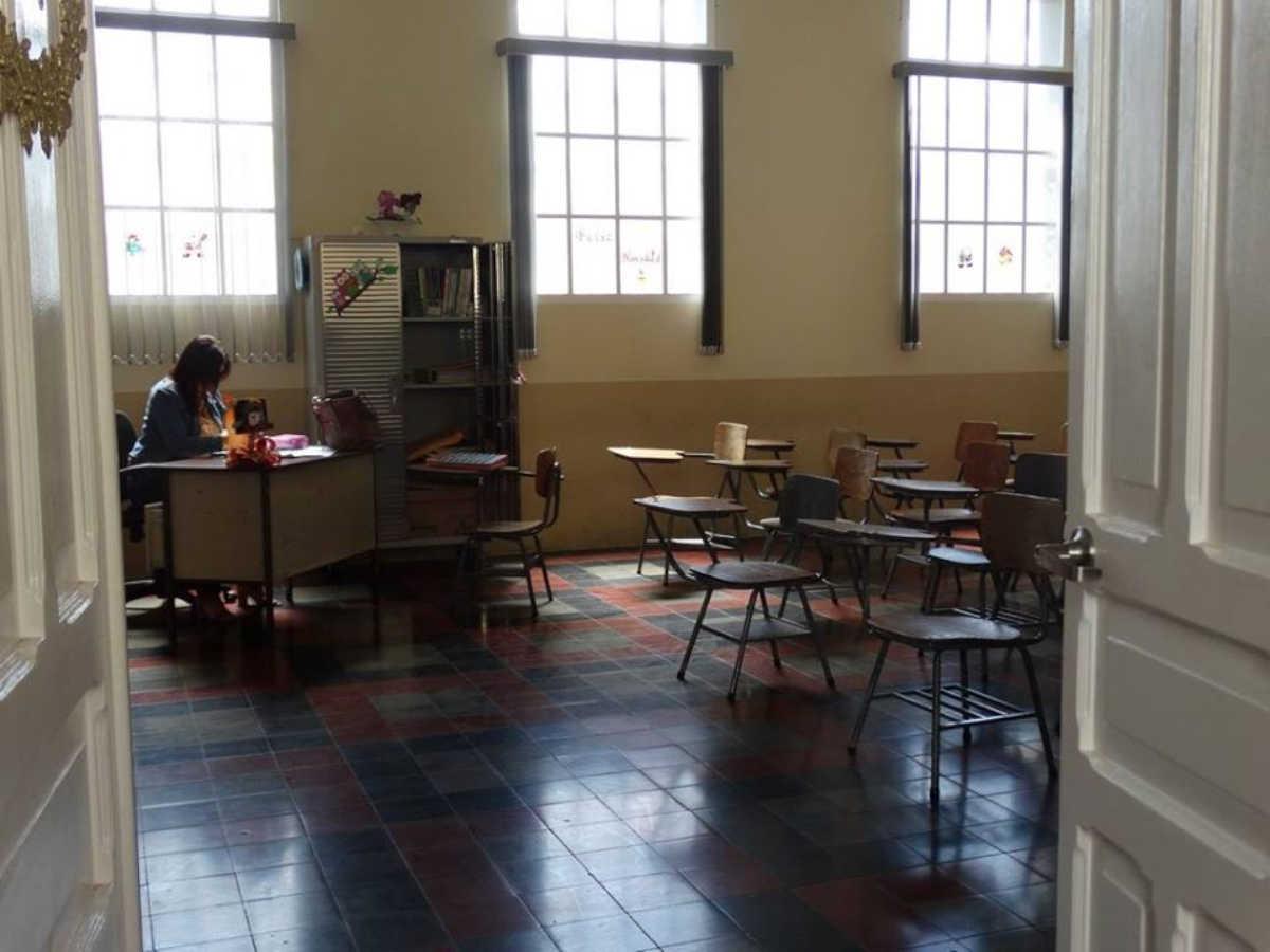 Así luce restaurado el salón de clase de la Escuela Jesús Jiménez.Por: Centro de Patrimonio.